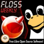 FLOSS Weekly cover art. Tux penguin and BSD logo.
