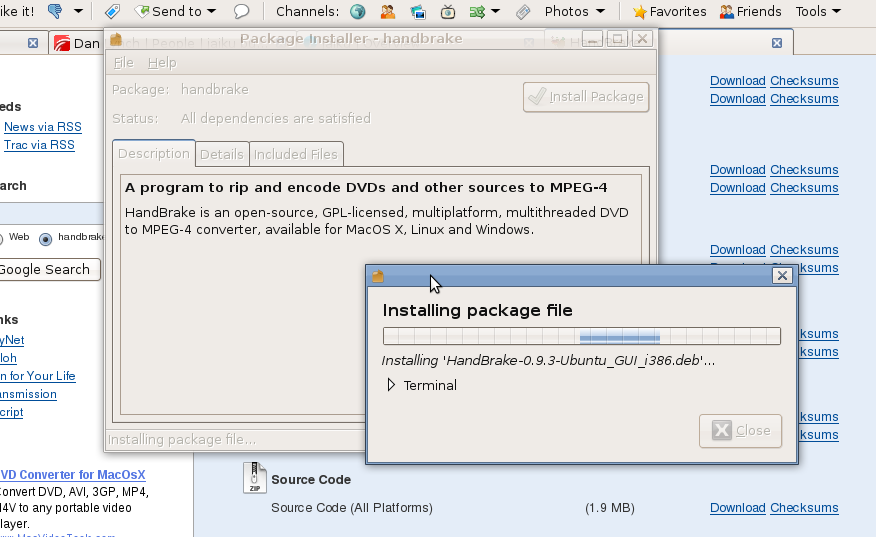 Handbrake DVD Ripper On Linux | DanLynch.org