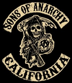 The SoA patch, a reaper image with California written on