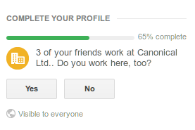 3 of your friends work for Canonical Ltd, do you?