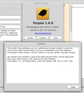 The license statement for Turpial, asserting the GPLv3 license.
