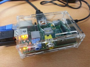 A Raspberry Pi in case