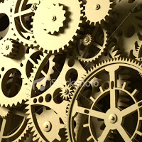 Close up image of some machinery, cogs and so on.